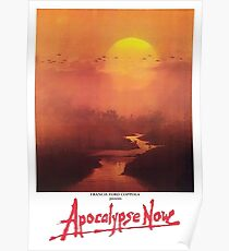 APOCALYPSE NOW. Movie, Film, OLD Poster, ON BLACK. Poster