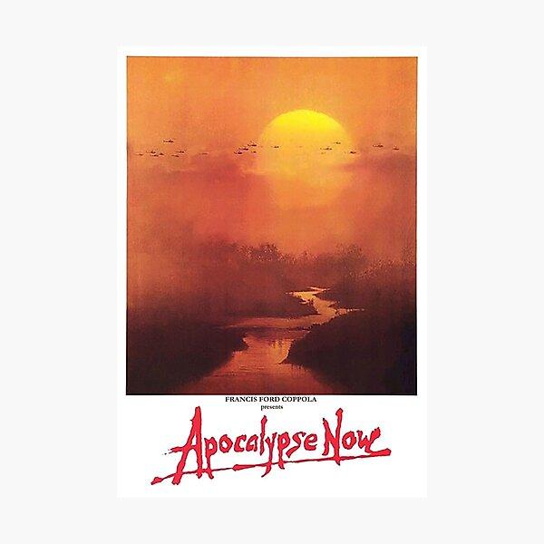 APOCALYPSE NOW. Movie, Film, OLD Poster, ON BLACK. Photographic Print