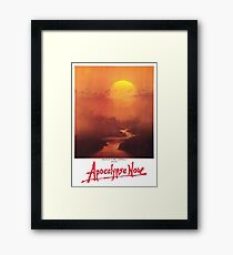 APOCALYPSE NOW, Movie, Film, OLD Poster, ON WHITE Framed Print