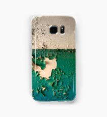 Wall with Peeling Green Blue and White Paint   Samsung Galaxy Case/Skin