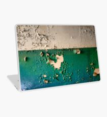 Wall with Peeling Green Blue and White Paint   Laptop Skin