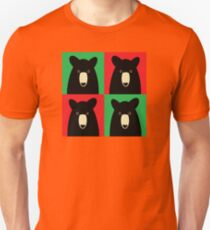 BLACK BEAR ON RED & GREEN T-Shirt