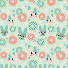 Green Donut Bunnies by Claire Stamper