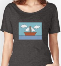 The Simpsons Boat Picture Women's Relaxed Fit T-Shirt