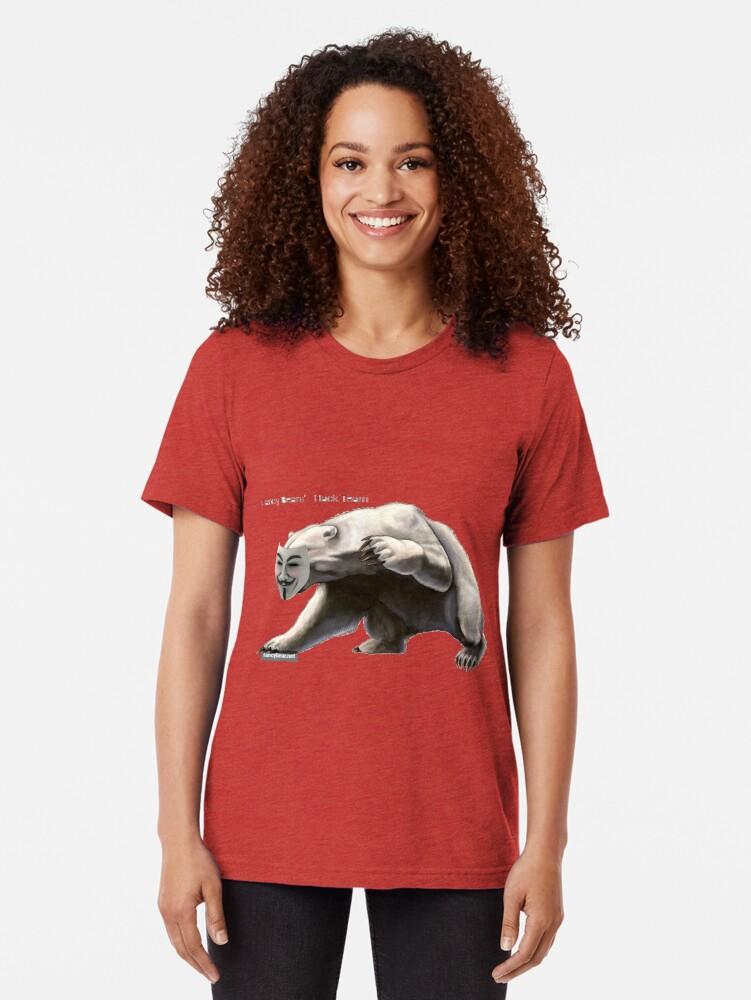 Alternate view of FANCY BEARS' Hack Team #FANCY #BEARS #Hack #Team #FANCYBEARS #HackTeam #FANCYBEARSHackTeam Tri-blend T-Shirt