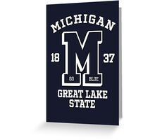 Michigan go blue great lake state wall tapestries by chocodole greeting card m4hsunfo