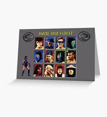 Mortal Kombat 2 – Choose Kitana Greeting Card