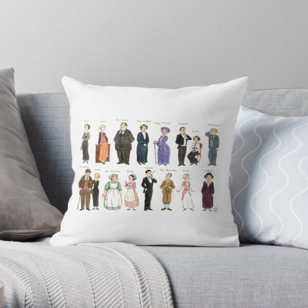 Downton A. Portraits Throw Pillow