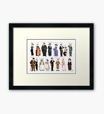 Downton Abbey portraits Framed Print