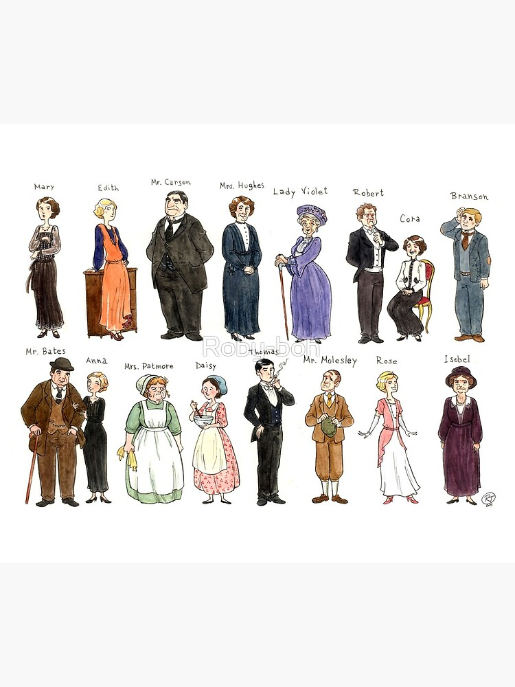 Downton A. Portraits by Roby-boh