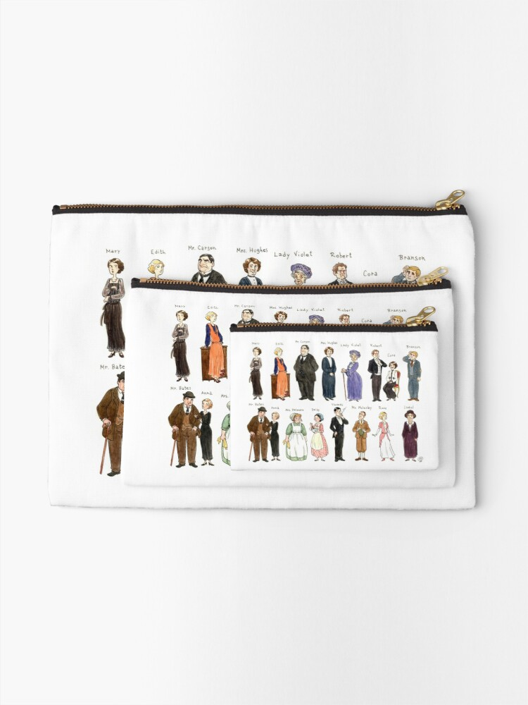 Alternate view of Downton A. Portraits Zipper Pouch