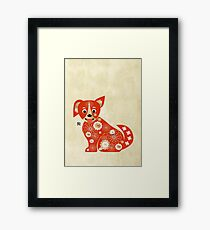 Year of the Dog Framed Print