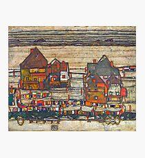 Egon Schiele - Houses with laundry (Suburb II) 1914 Photographic Print