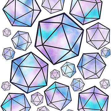 Blue & Purple Crystal D20 Collage by DecemberTea