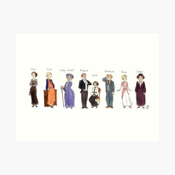 Downton-upstairs Art Print