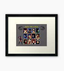 Mortal Kombat 2 – Choose Mileena Framed Print