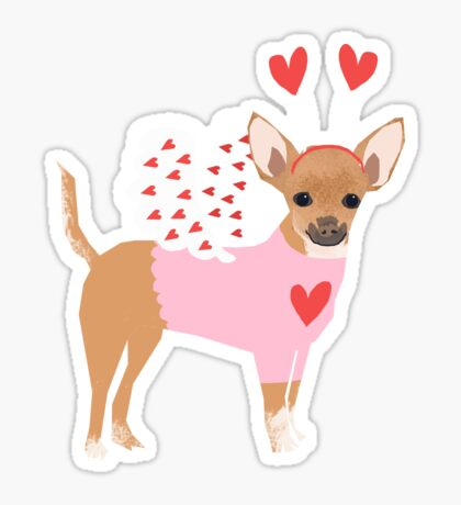 Chihuahua love bug dog breed valentines day cute gifts for chiwawa lovers Sticker