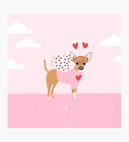 Chihuahua love bug dog breed valentines day cute gifts for chiwawa lovers Photographic Print