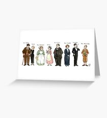 Downton-downstairs Greeting Card