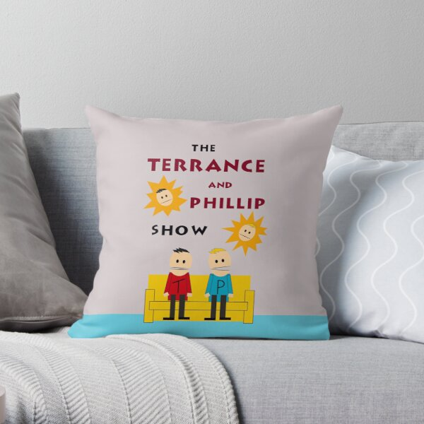 South Park Eric Cartman's Room Terrance and Phillip Throw Pillow