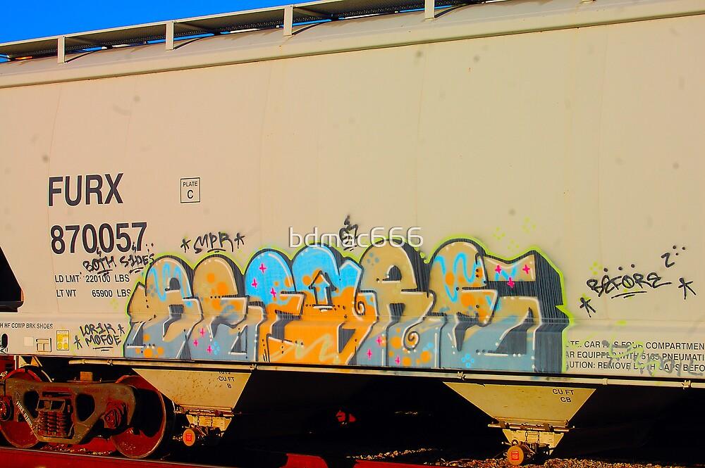 Train Graffiti #14 by bdmac666
