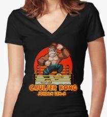 Cruiser Kong Jordan Len-X Women's Fitted V-Neck T-Shirt