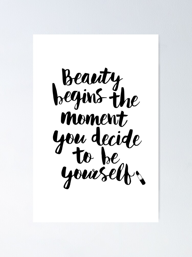 Beauty begins the moment you decide to be yourself tank top