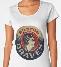 Boston Braves Vintage 1940-50er Jahre Premium Rundhals-Shirt