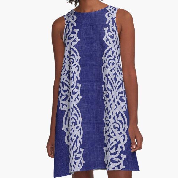 Indigo Large Arabesque A-Line Dress