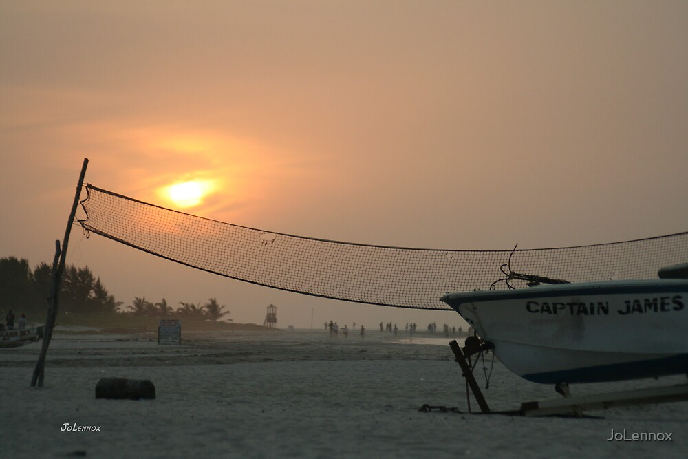Sunset In The Gambia by JoLennox
