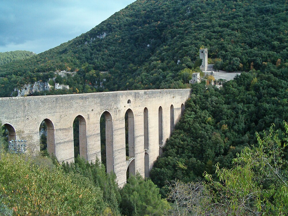 Spoleto, The Towers Bridge by presbi