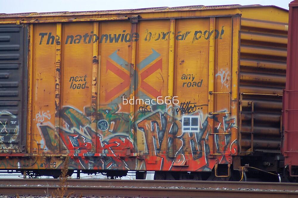 Train Graffti #19 by bdmac666