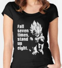 Fall Seven Times, Stand Up Eight Women's Fitted Scoop T-Shirt