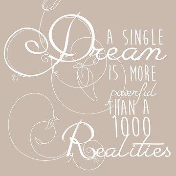 A single dream... - white font by Kamikazekatze
