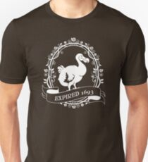 Dodo: Expired 1693 (white) Unisex T-Shirt