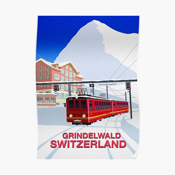 Poster de ski de Grindelwald Poster