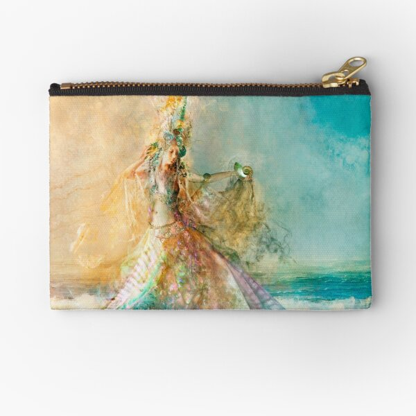 The Shell Maiden Zipper Pouch