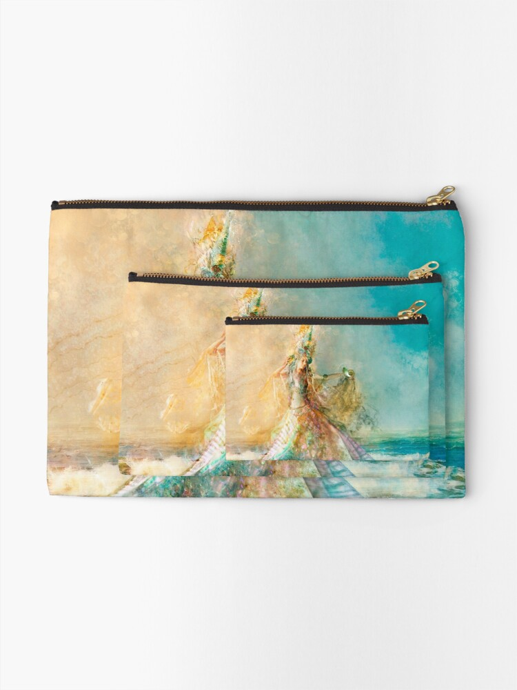 Alternate view of The Shell Maiden Zipper Pouch