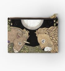 The Lion and the Unicorn Zipper Pouch