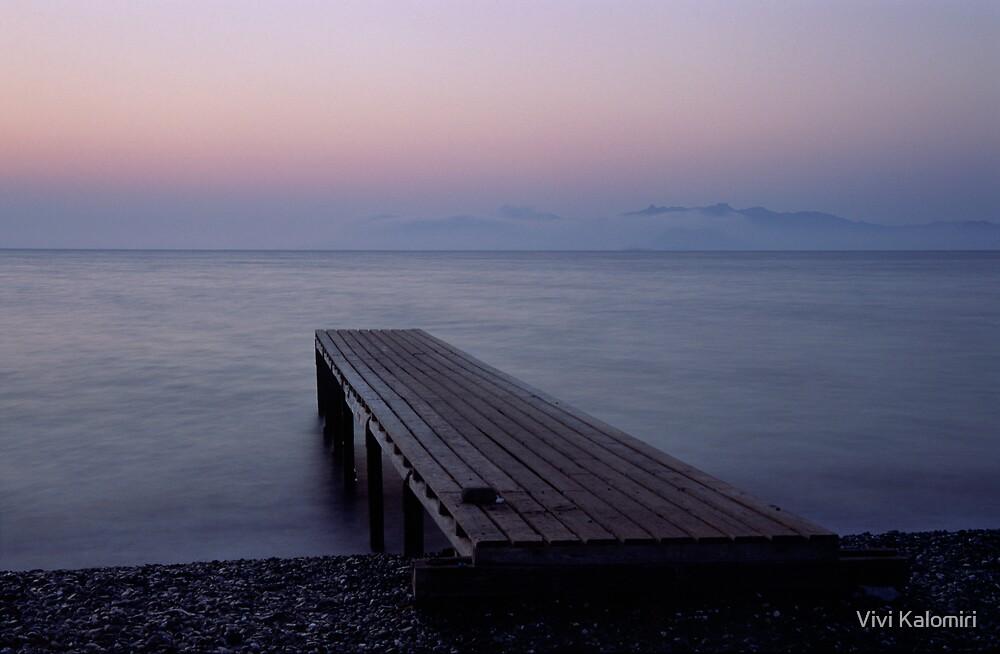 The Dock I by Vivi Kalomiri
