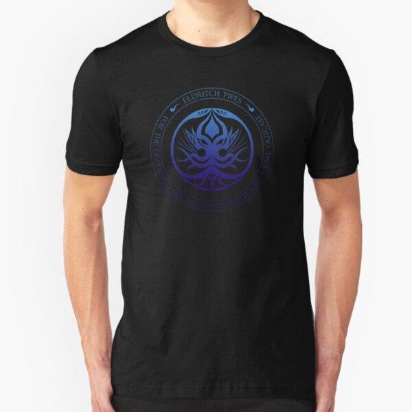 Eldritch Pipes Sigil (deep sea) Slim Fit T-Shirt