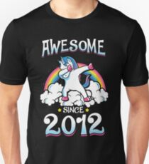 Awesome since 2012 Unisex T-Shirt
