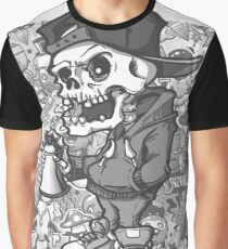 Graffiti Black and White Graphic T-Shirt