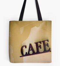 Blue M Cafe - Sign Tote Bag