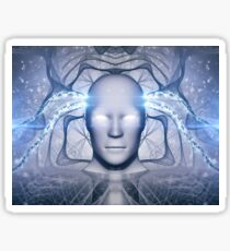 AI Artificial Intelligence Abstract Concept Sticker