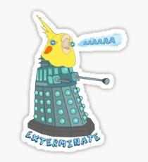 birb exterminate AAAAAAAA Sticker