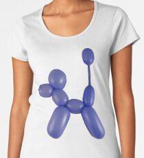 Blue Balloon Dog Women's Premium T-Shirt