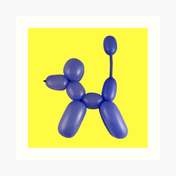Blue Balloon Dog Art Print