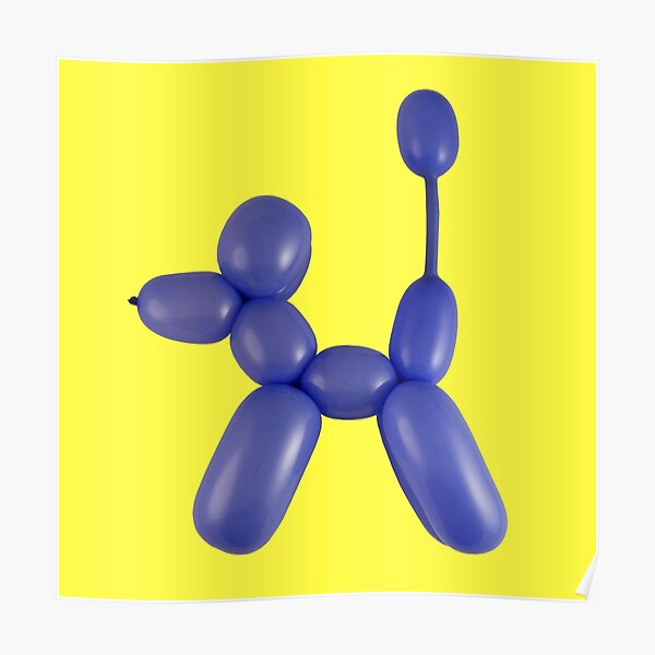 Blue Balloon Dog Poster