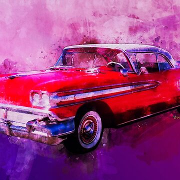 1958 Oldsmobile Hardtop with Continental Kit in Tow by ChasSinklier